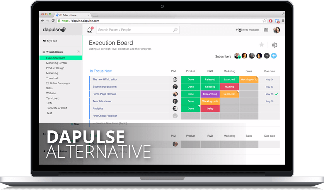 Dapulse Alternative - Why Easynote is best Dapulse alternative